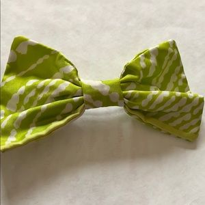 American apparel lime green and white bow